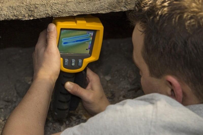 Kruipruimte warmtebeeldcamera inspectie