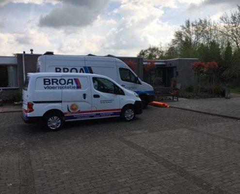 Kruipruimte ventilatie en bodemisolatie in Bungalow Breda