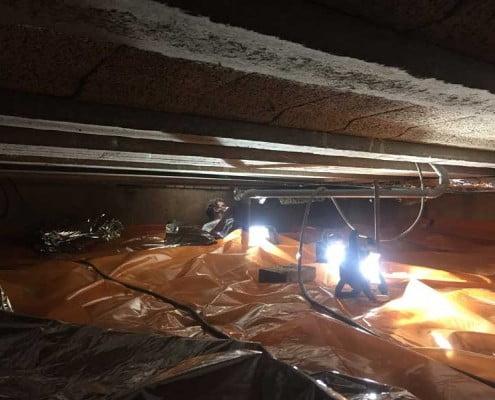 Kruipruimte ventilatie en TONZON isolatie