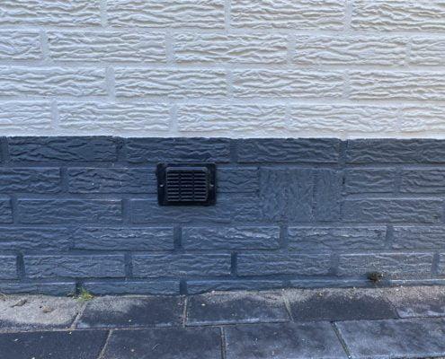 Kruipruimte ventilatie met ventilatiekokers in Arnhem