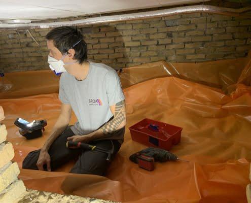 Milieuvriendelijk huis door vloerisolatie in Dongen