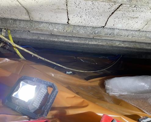 Kruipruimte ventilatie in Klaaswaal