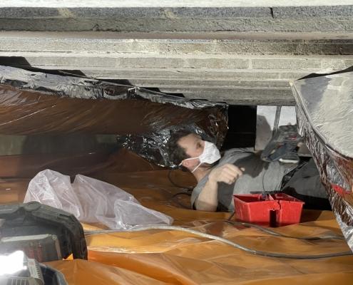 Lage energiekosten door vloerisolatie in Oosterhout