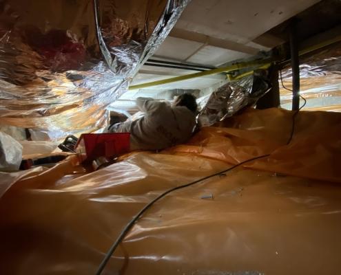 Warme vloer door vloerisolatie in Heel